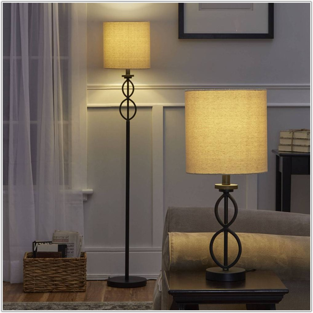 Floor And Table Lamp Set Mainstays