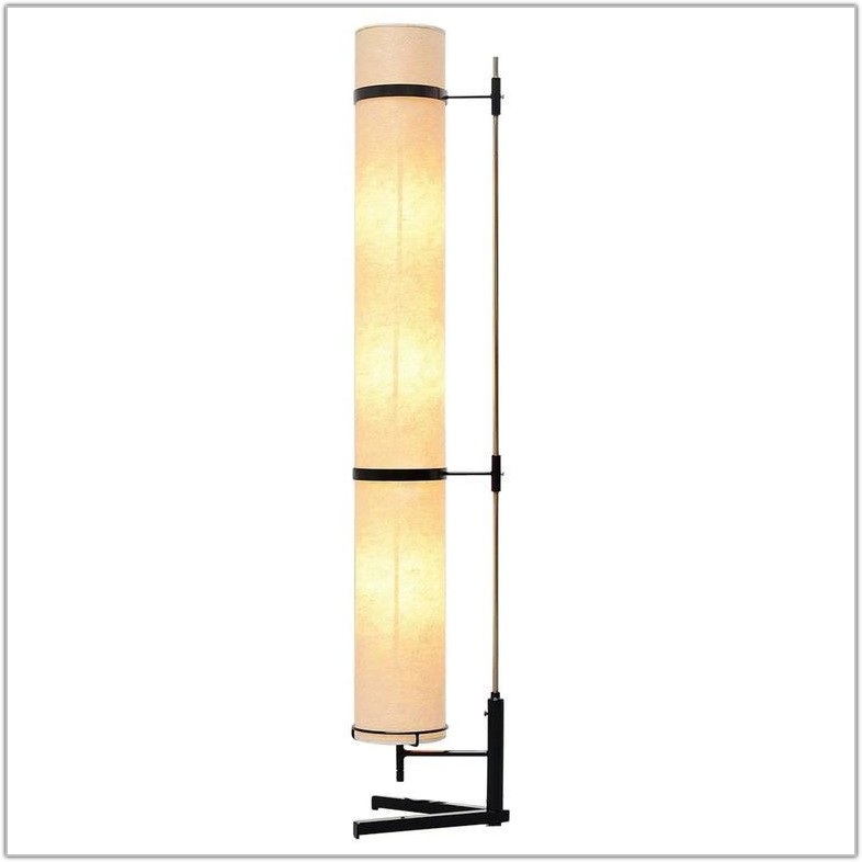 Floor Lamp With Rice Paper Shade