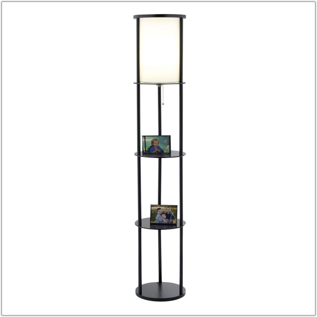 Floor Lamp With Storage Shelves