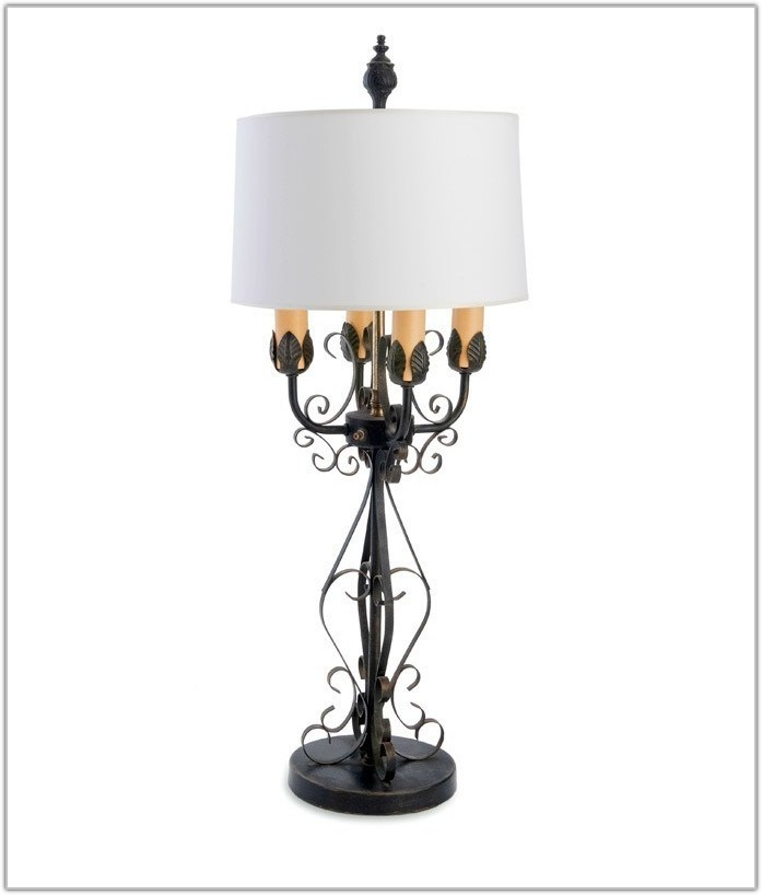 French Country Pottery Table Lamps