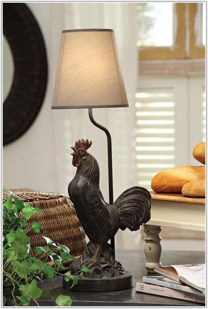 French Country Rooster Table Lamp
