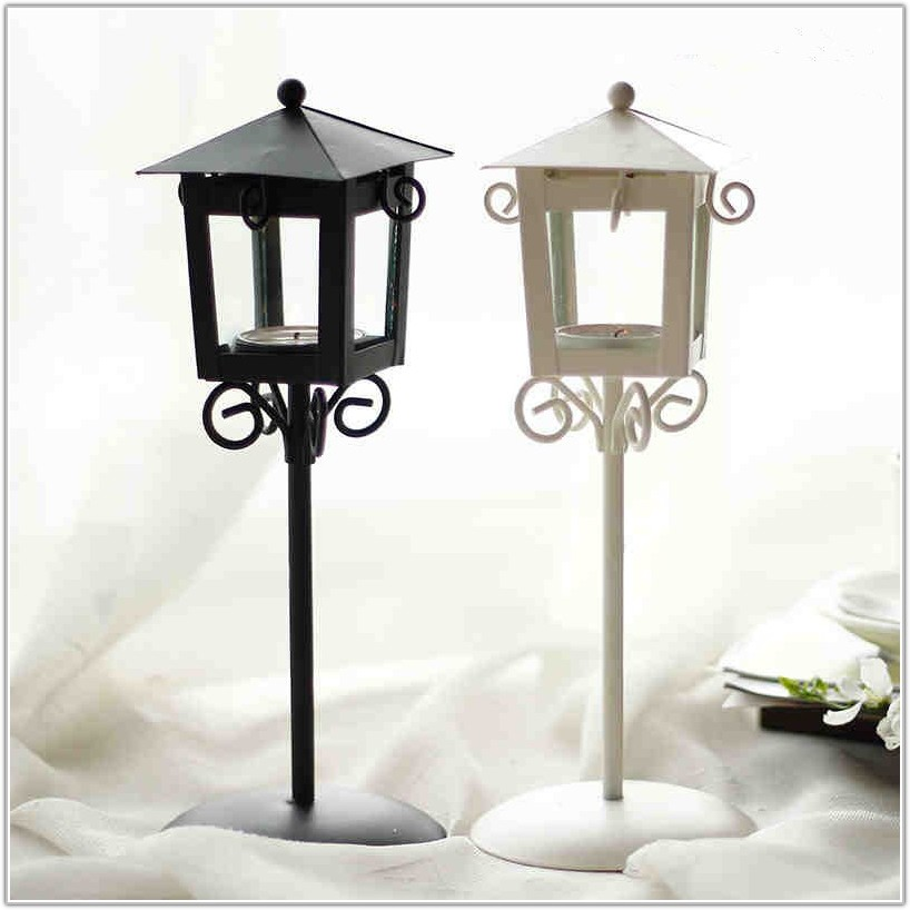 Glass Hurricane Lamps For Candles
