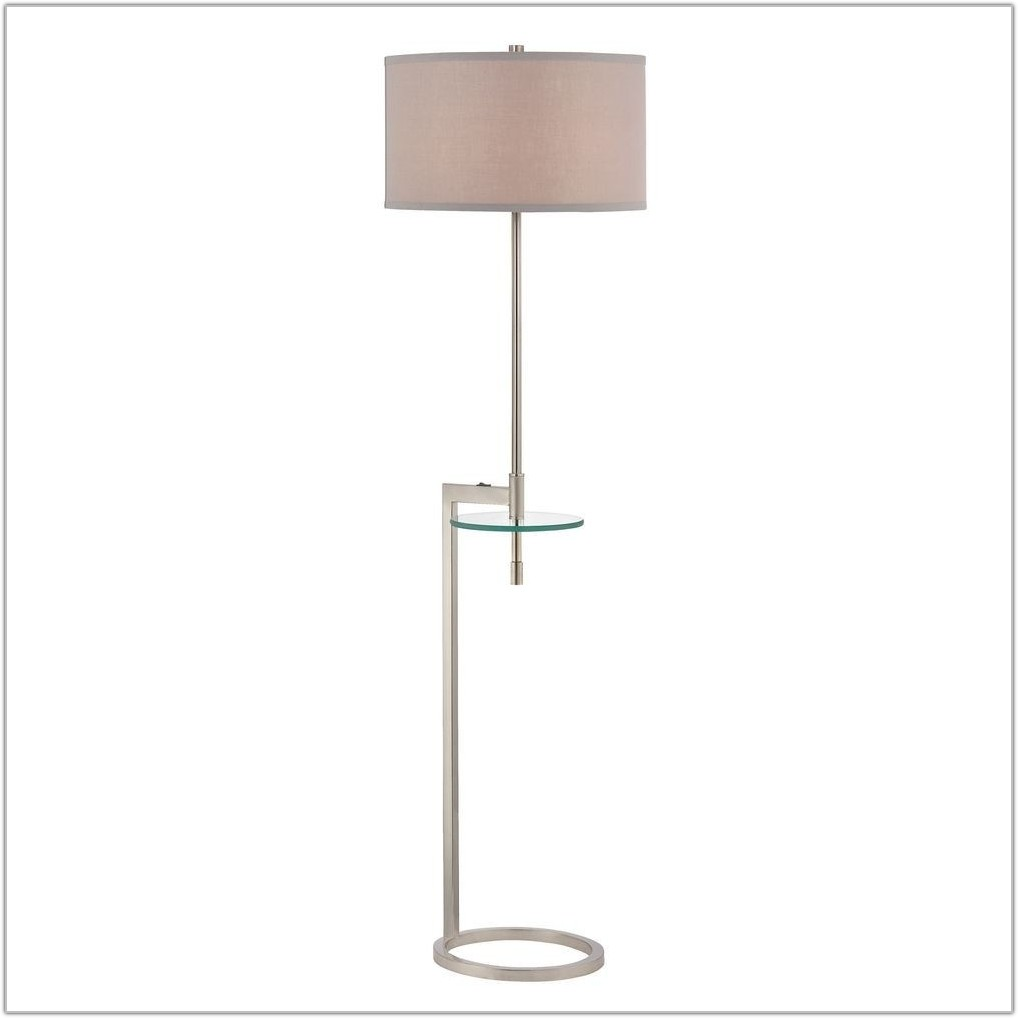 Glass Tray Table Floor Lamp