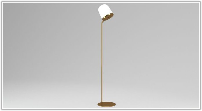 Gold And White Floor Lamp