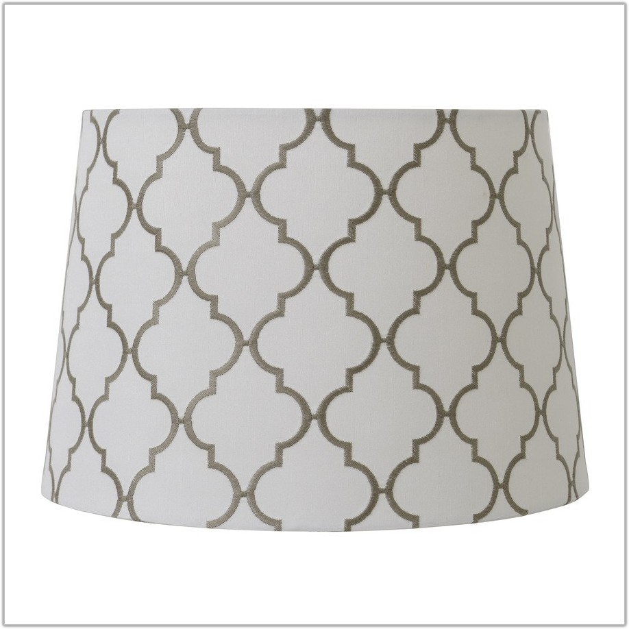 Gold And White Lamp Shade