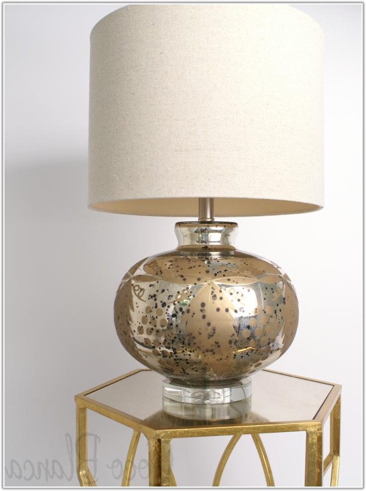 Gold Mercury Glass Table Lamp