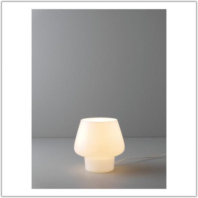 Habitat White Glass Table Lamp