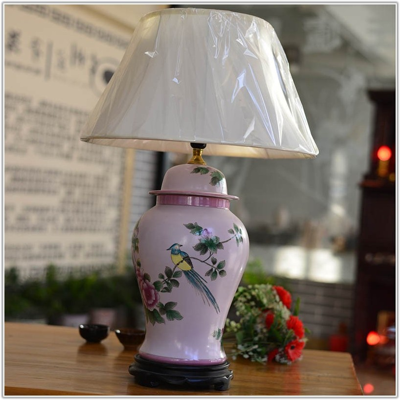 Hand Painted Ceramic Table Lamps