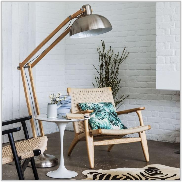 Homebase Black Chrome Floor Lamp