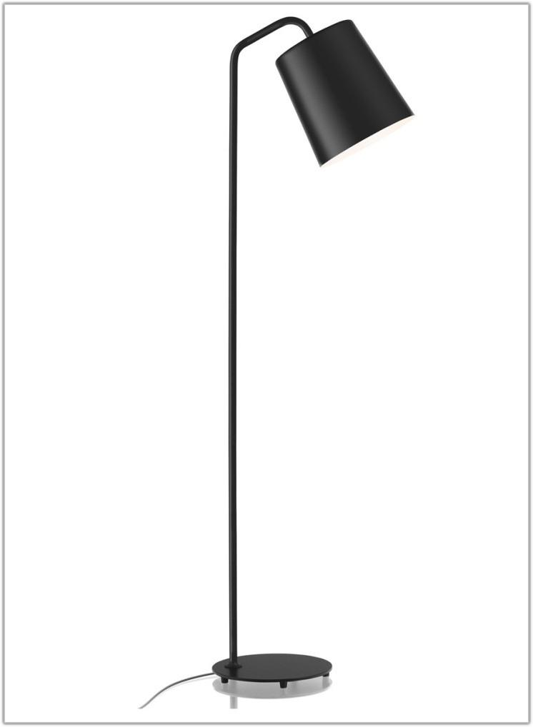 Hyatt Black Chrome Floor Lamp