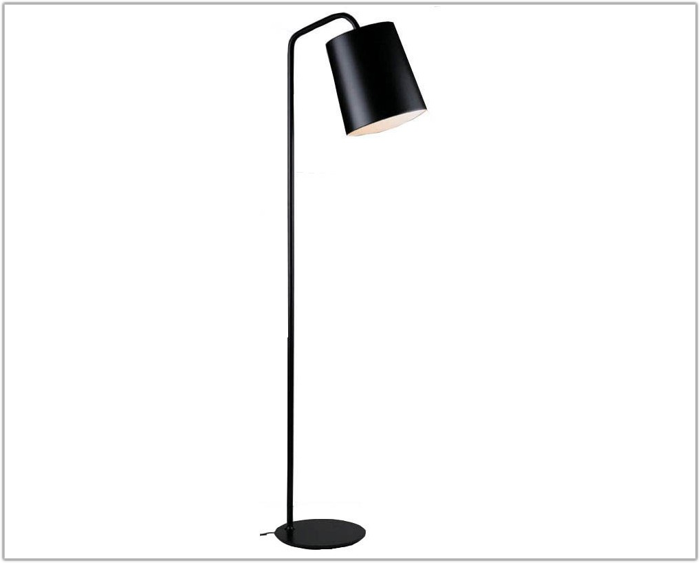 Ikea Black Metal Floor Lamp