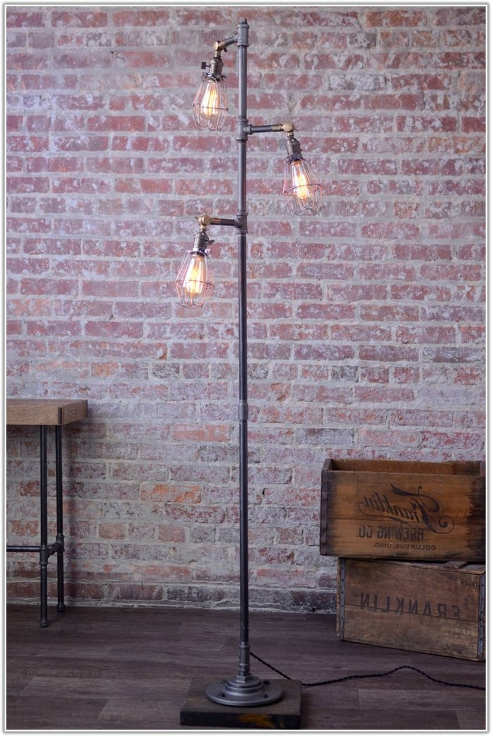 Industrial Cage Edison Bulb Floor Lamp