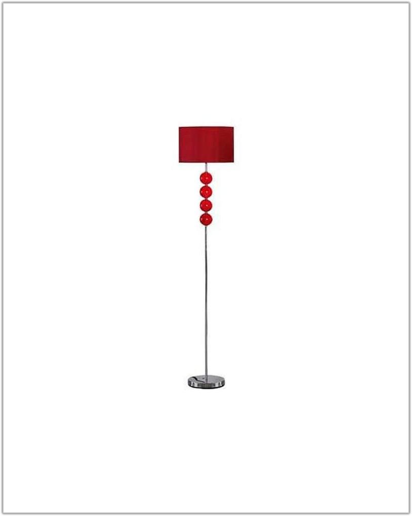 Inspire Glass Ball Floor Lamp Ruby Red