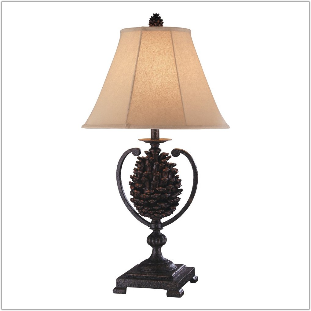 Iron Pine Cone Table Lamp