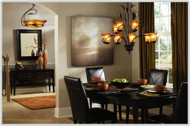 Lamp Shade Dining Room Lighting