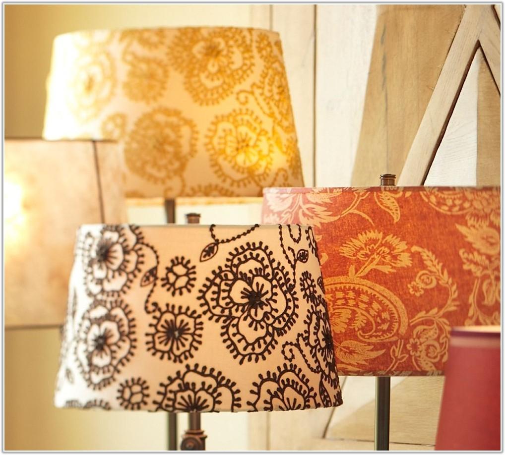 Large Brown Drum Lamp Shade