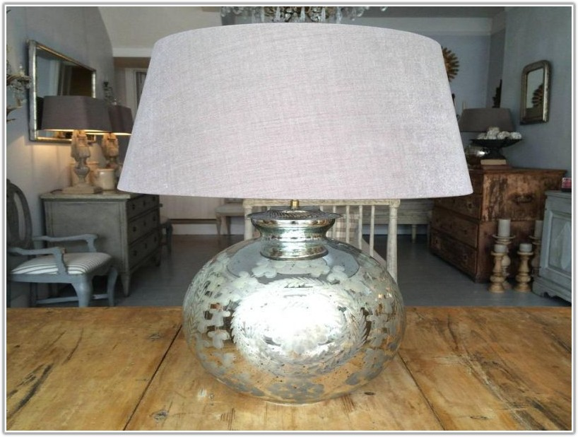 Large Mercury Glass Table Lamps