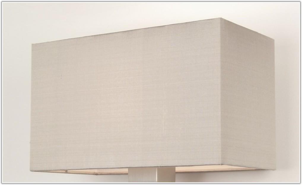 Large White Rectangular Lamp Shade