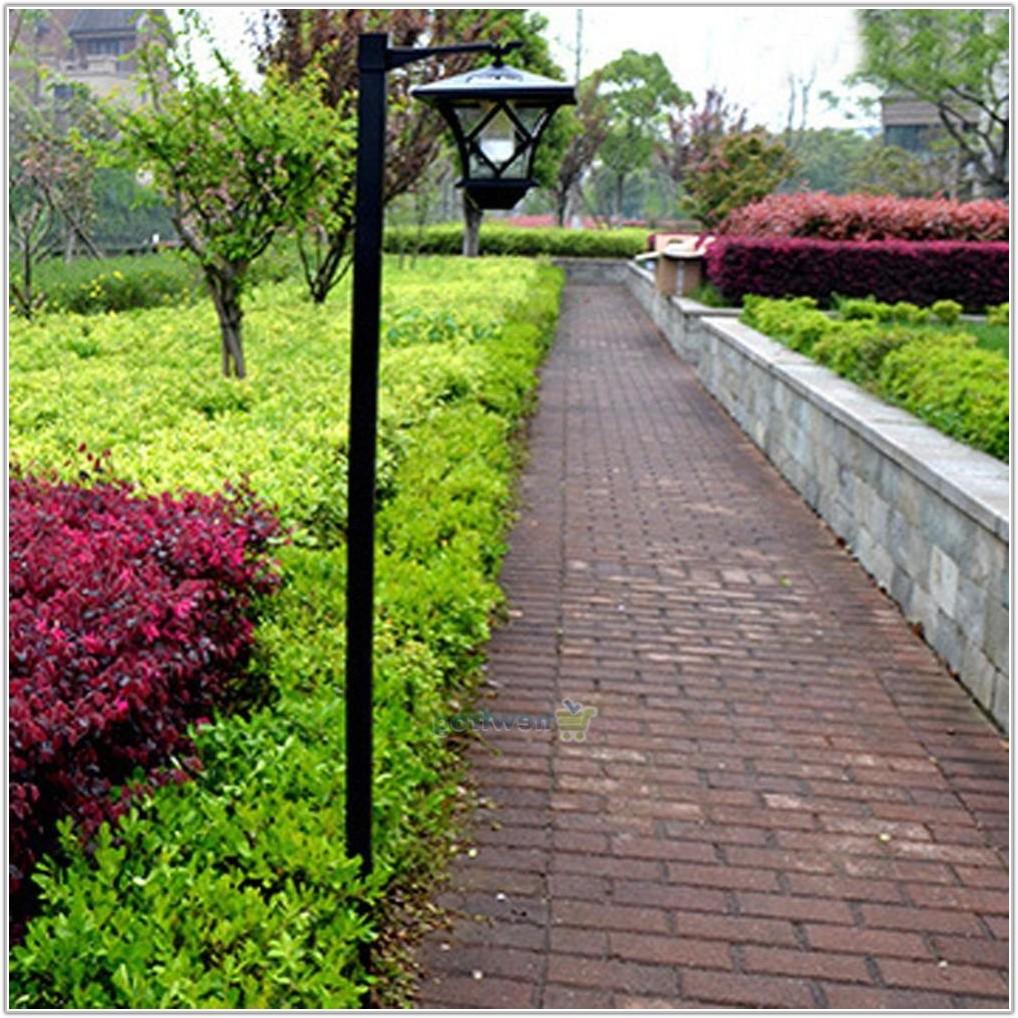 Led Solar Powered Garden Lamp Post