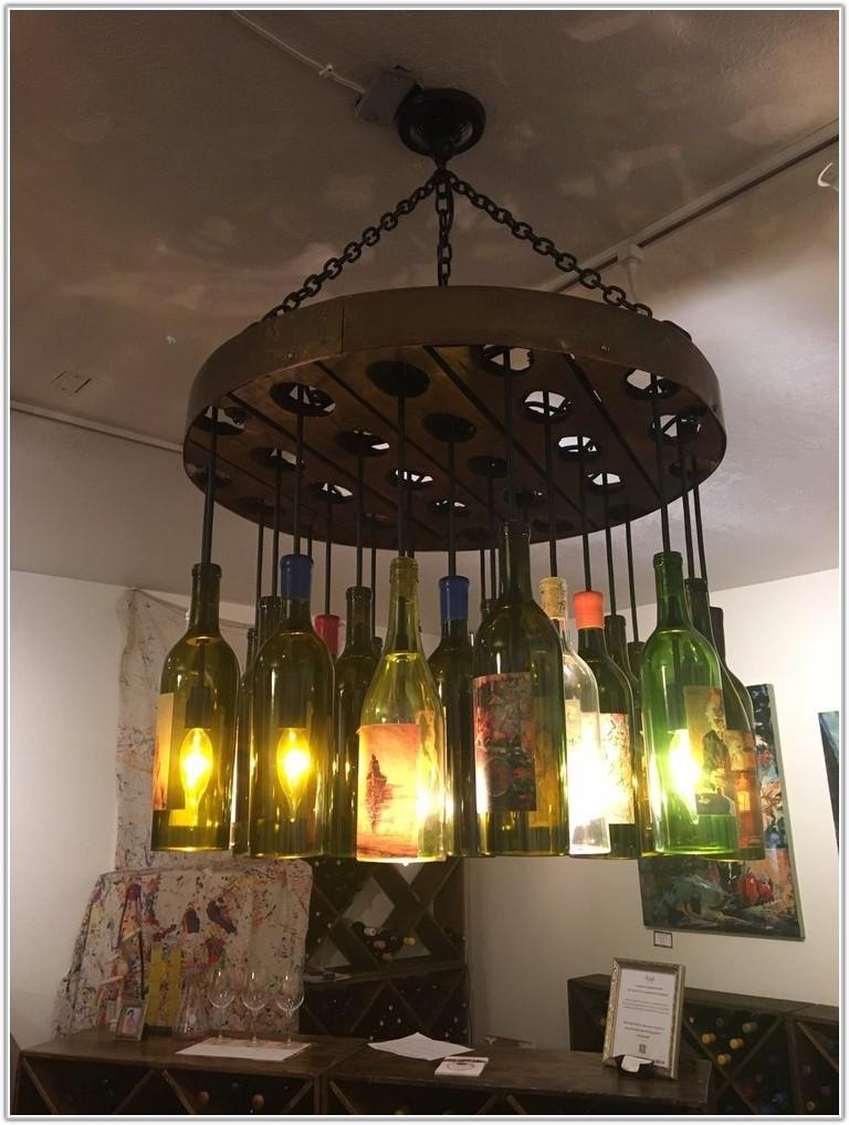 Light Fixture From Wine Bottles