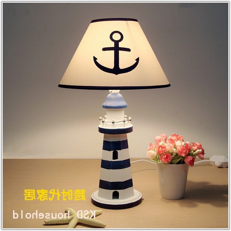 Lighthouse Table Lamp With Night Light
