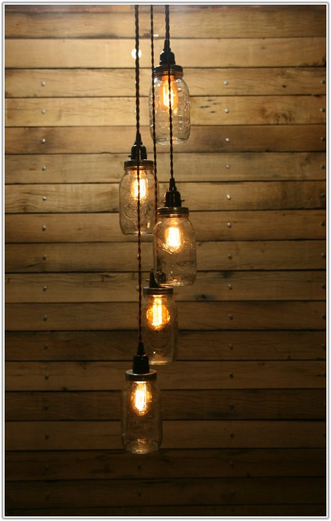 Mason Jar Pendant Lamp Diy