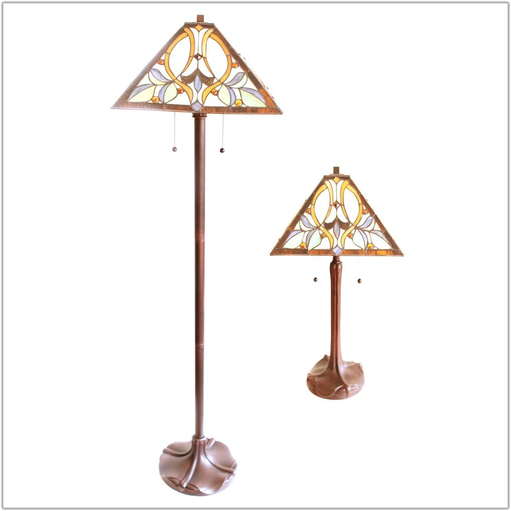 Matching Floor And Table Lamp Set