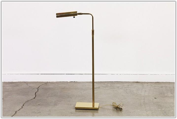 Mid Century Modern Brass Floor Lamp