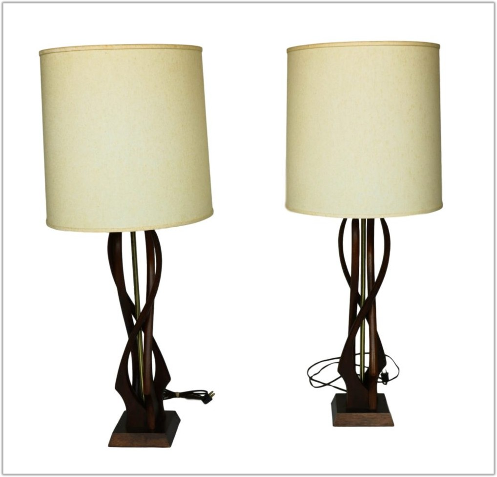 Mid Century Modern Lamps Wood