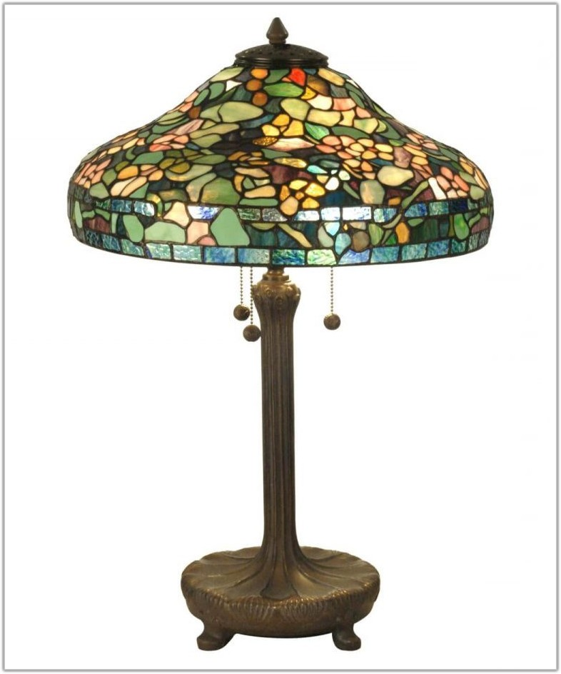 Mission Style Tiffany Table Lamps