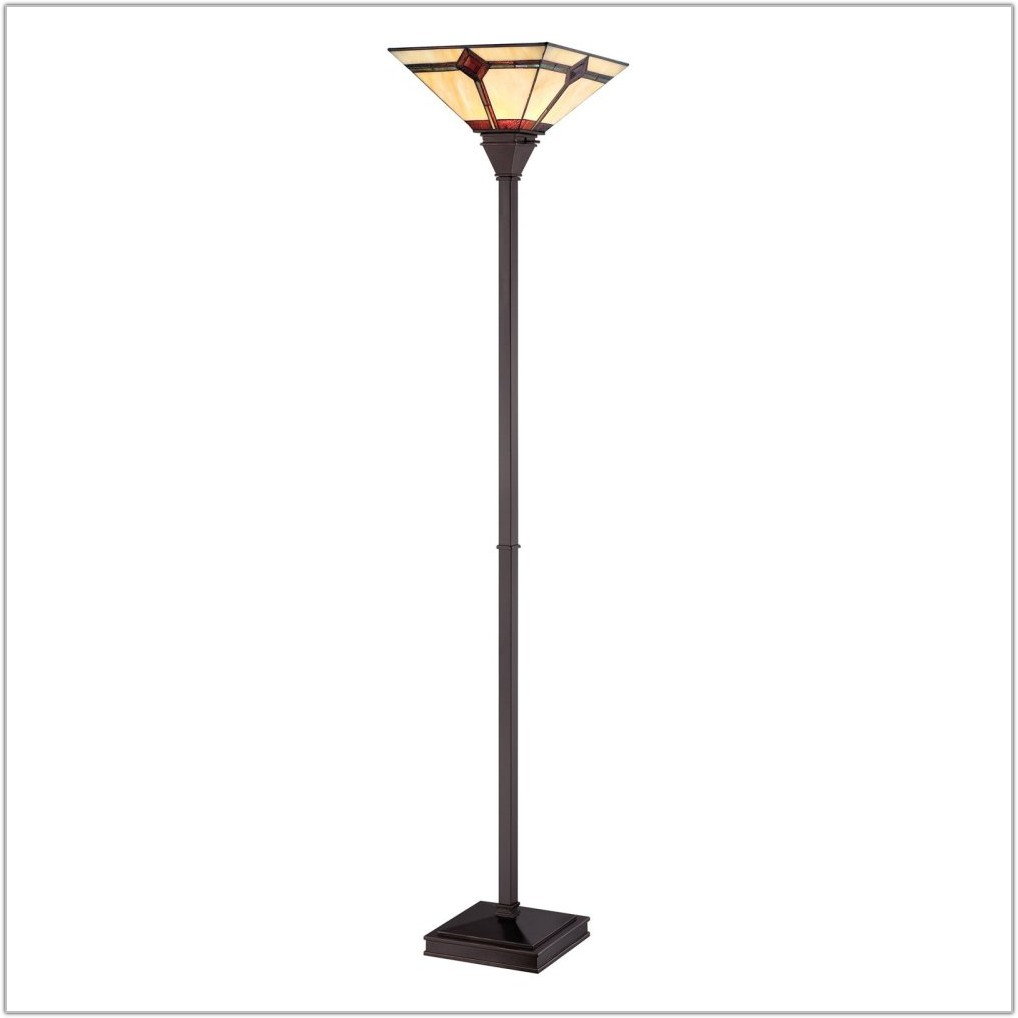 Mission Style Torchiere Floor Lamps