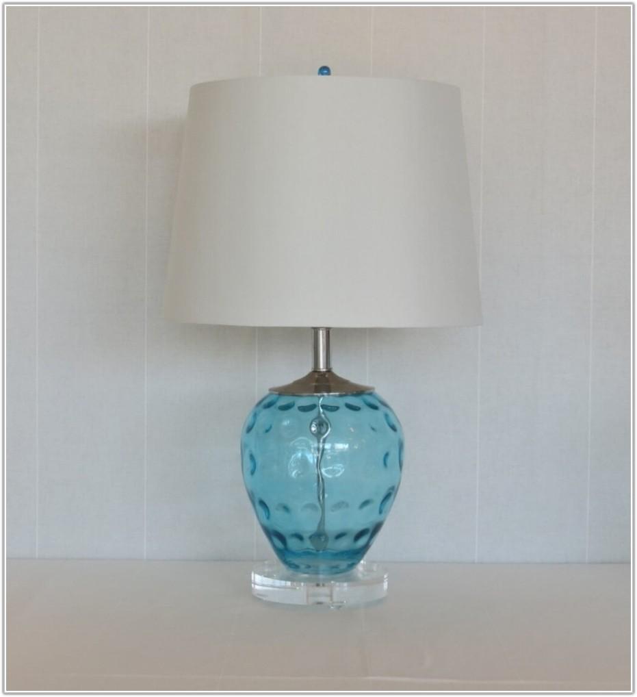Modern Blue Glass Table Lamp