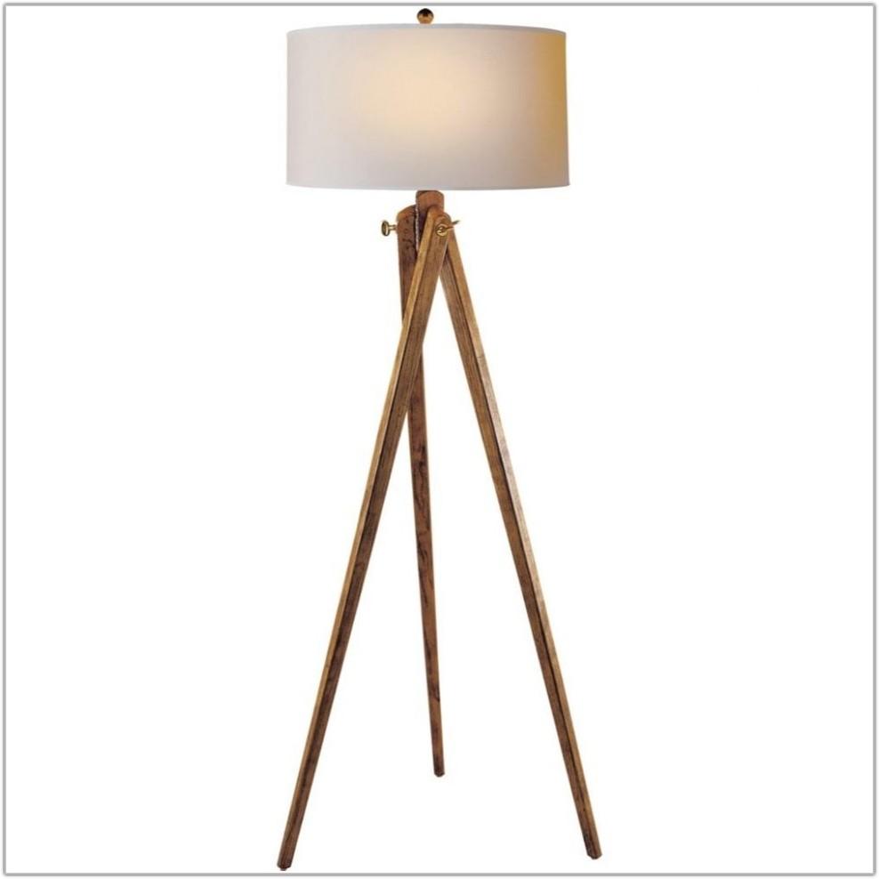 Modern Floor Lamp Drum Shade