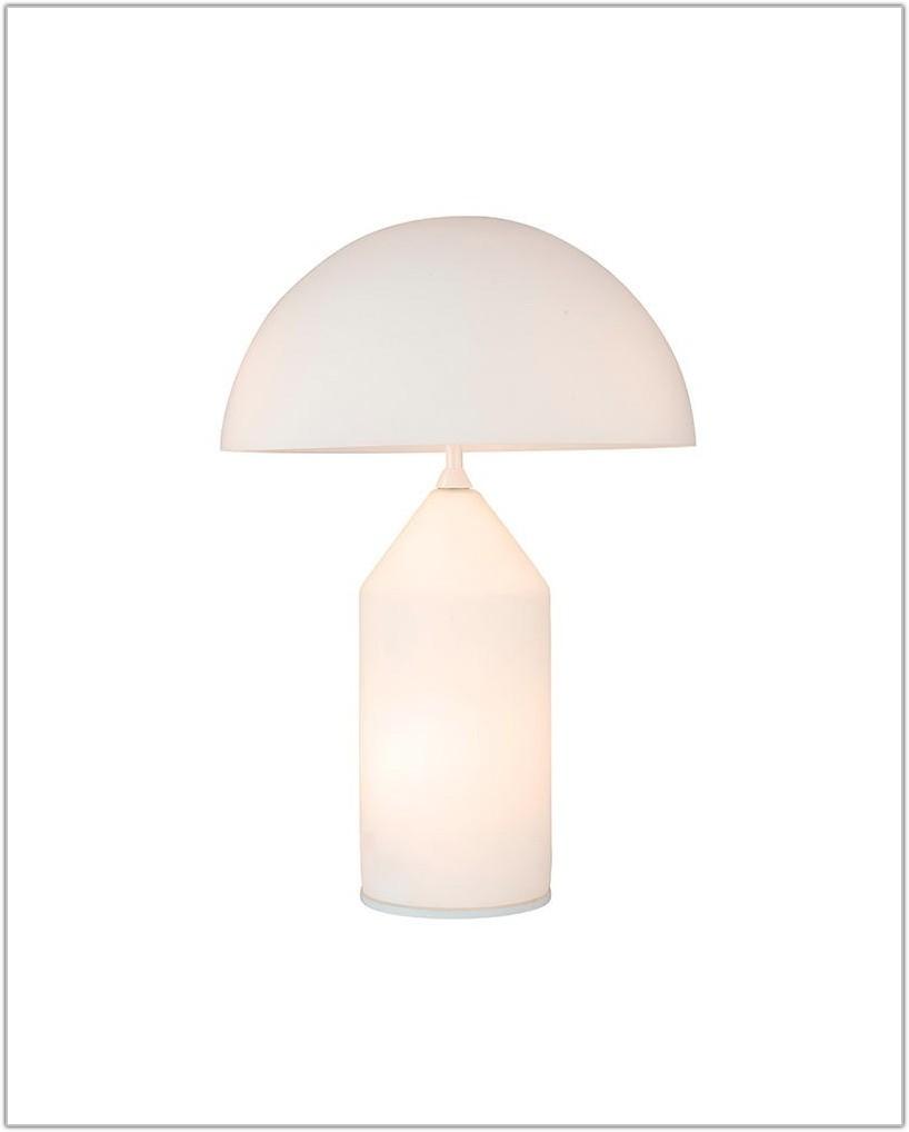 Modern White Glass Table Lamp