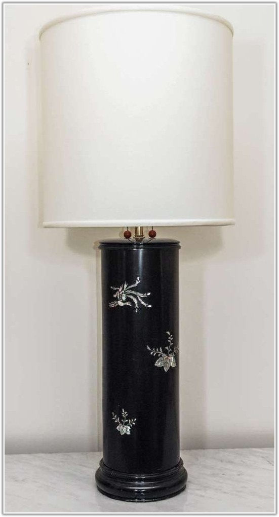 Mother Of Pearl Inlay Table Lamps