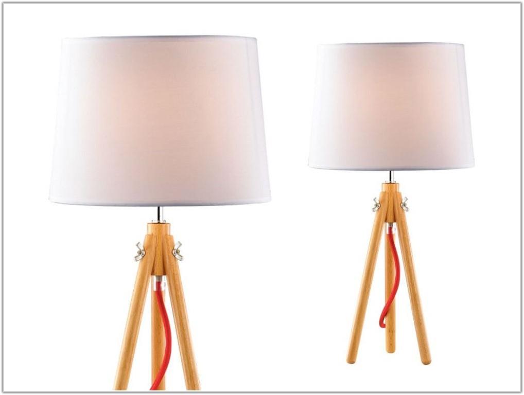Natural Wood Base Table Lamp