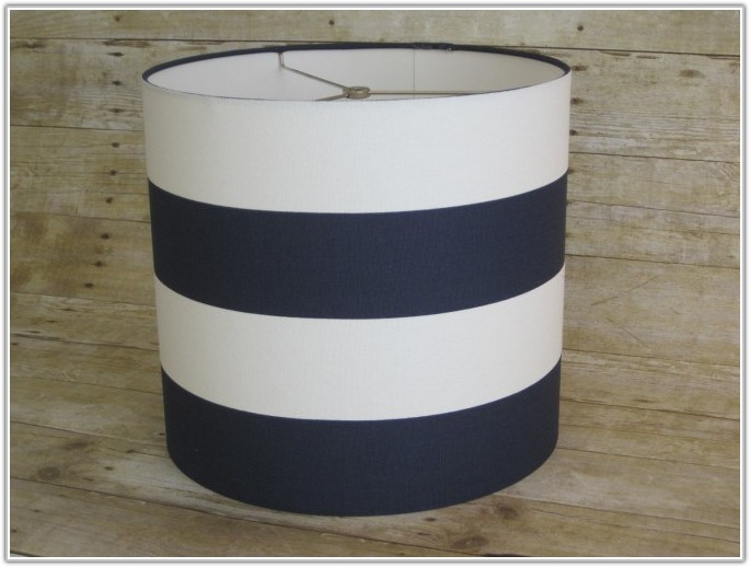 Navy And White Light Shade