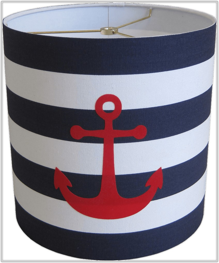 Navy And White Striped Lamp Shade