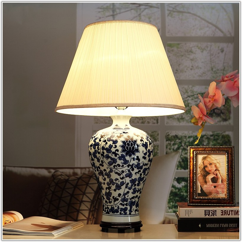 Oriental Style Ceramic Table Lamps