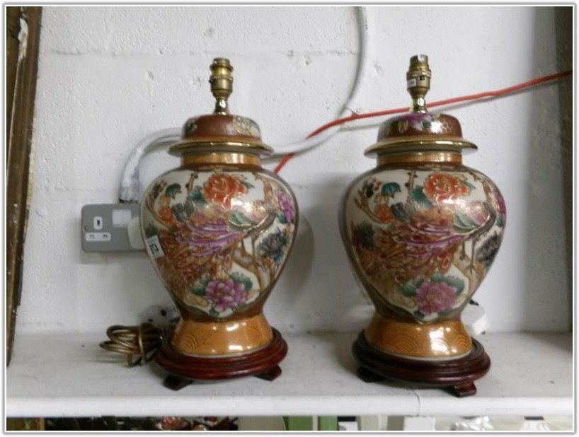 Oriental Style Table Lamp Bases