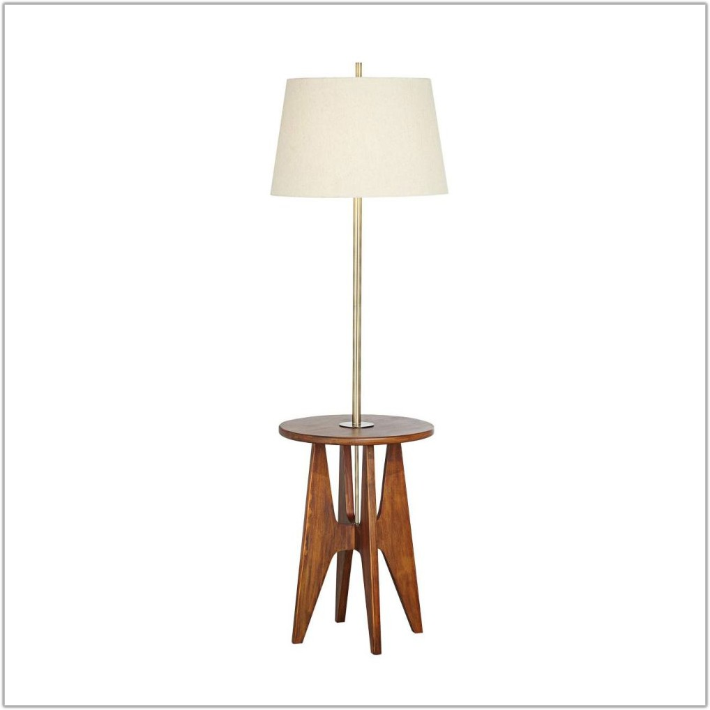 Outdoor Floor Lamp With Tray Table