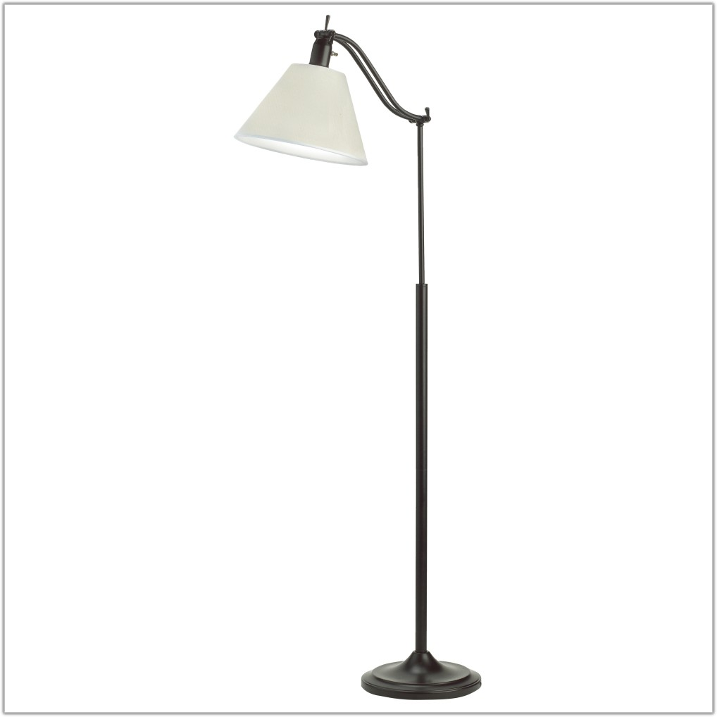 Pewter Floor Lamp With Adjustable Reading Light