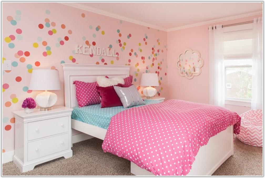 Pink White Polka Dot Lamp Shade