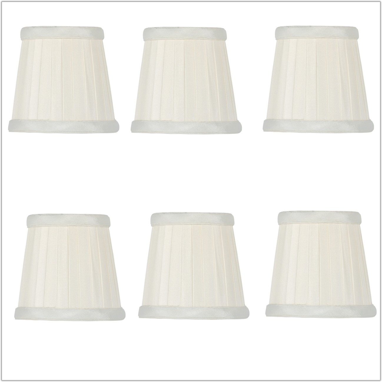 Pleated Silk Drum Lamp Shades