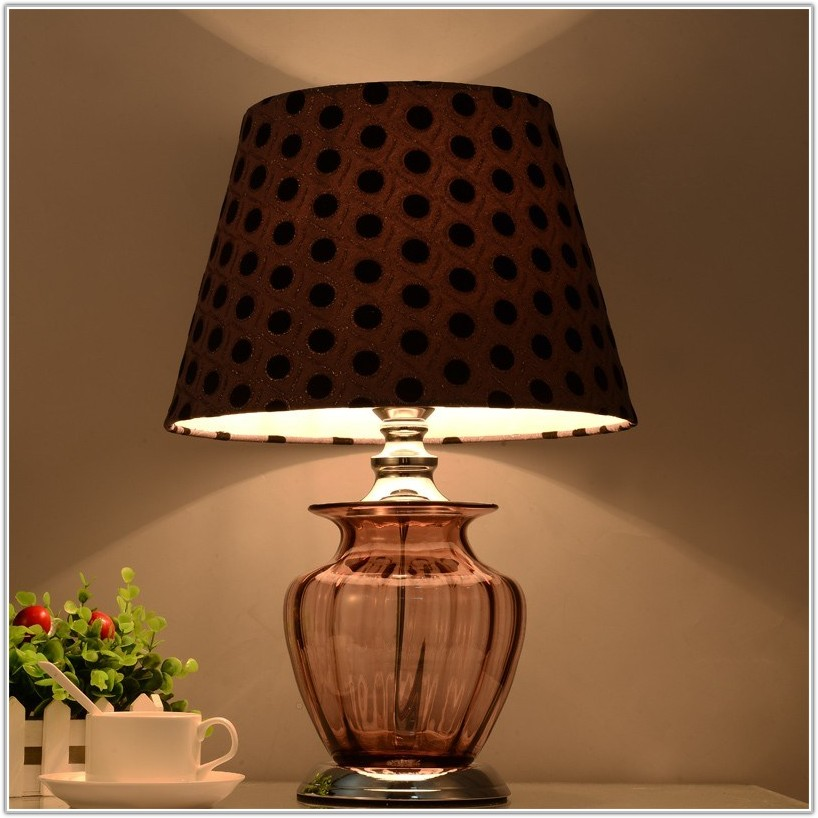 Recycled Glass Ball Table Lamp