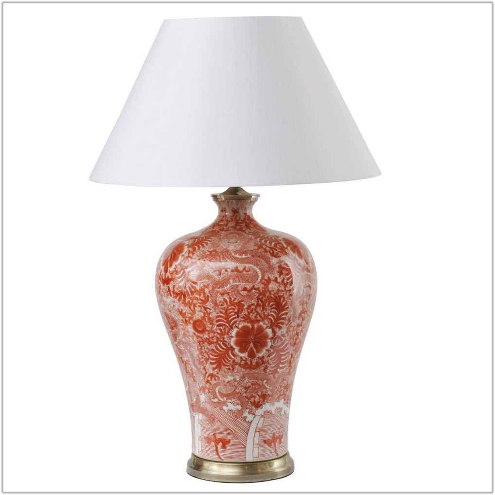 Red Ceramic Base Table Lamps