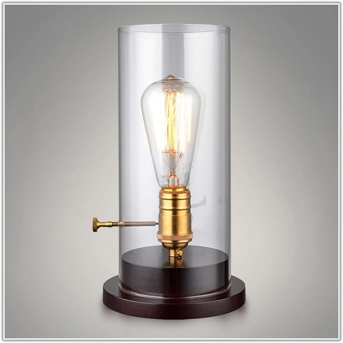 Retro Edison Bulb Single Cylindrical Table Lamp