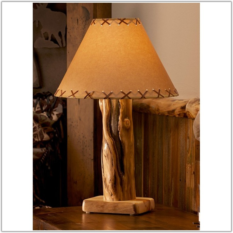 Rustic Log Cabin Table Lamps
