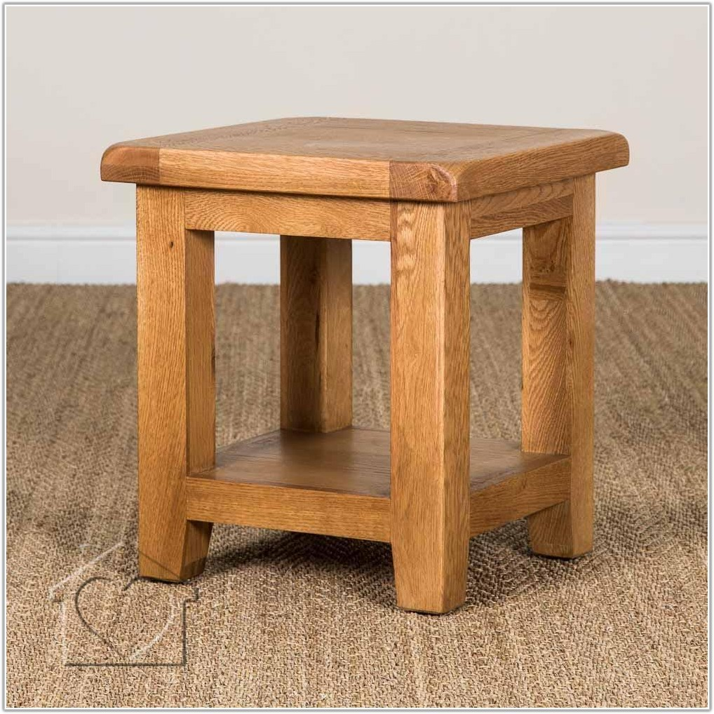 Rustic Oak Small Lamp Table