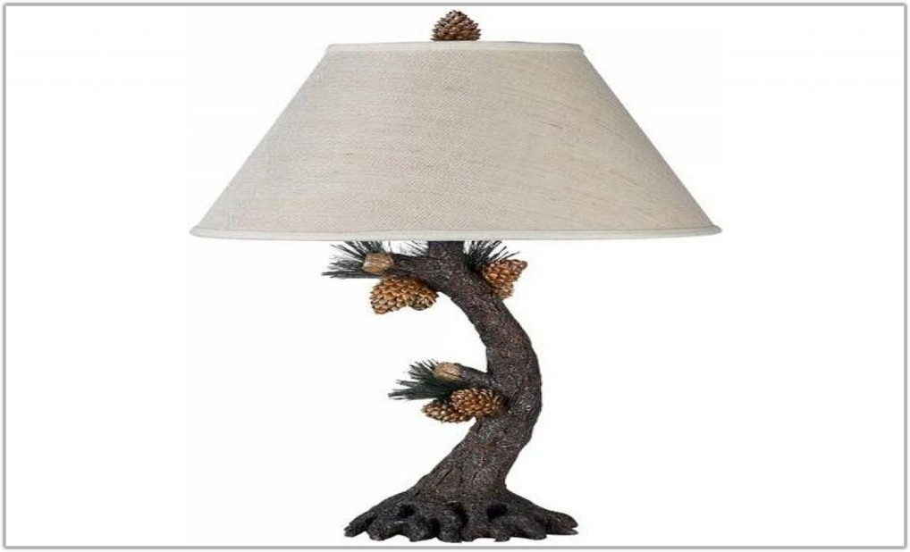 Rustic Pine Cone Table Lamps